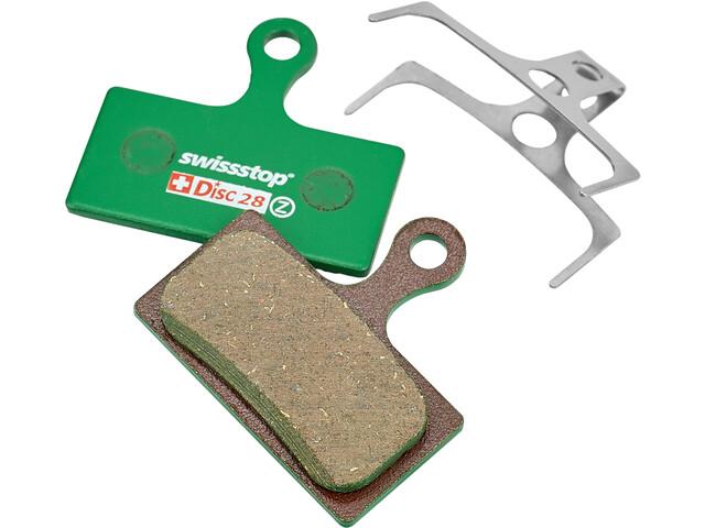 SwissStop Disc 28 Organic Patins de frein Shimano XTR/XT/FSA Force Afterburner, green